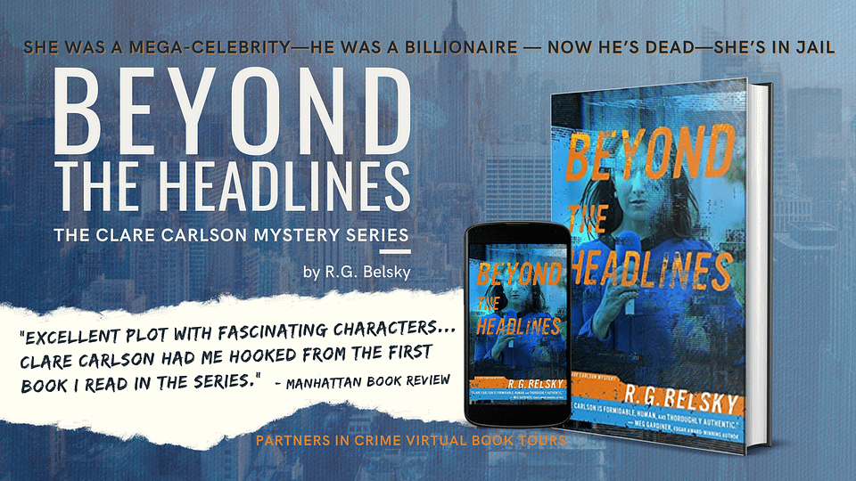 Beyond the Headlines by R.G. Belsky Book Tour Banner